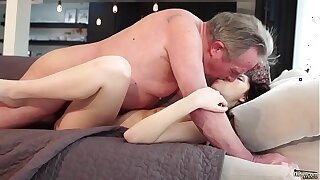 Venerable and Youthfull Porno - Infatuating guiltless gf gets pounded by granddad