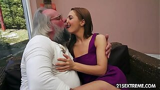 Parent plumbs Dominica Fox's cock-squeezing youthfull snatch