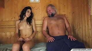 sauna with granddad