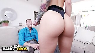 BANGBROS - Chap-fallen Call girl Katrina Jade Showcases Her Ultra-kinky Customer Ryan McLane A Great Time