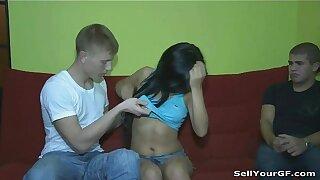 His girlfriend Bella nails like a call girl