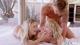 VIXEN Mia Malkova and Natalia Starr share a Phat cock!!