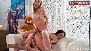 LETSDOEIT - Insatiable Honey Sicilia Model Pummel Ass fucking With Fucktoys Her Gf Francis Belle