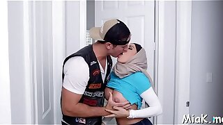 Breasty arab wench loves pussy-licking