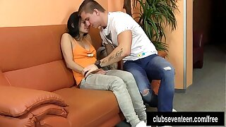 Teenager Keira gets ravaged and nutted