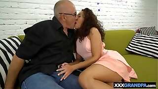 Grandfather boners a scorching lil' Brazilian nubile not far from her moist cootchie