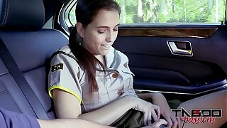 Mischievous Nubile Brooke Haze Gives Step-dad Deep throat Hottest extent Mommy drives