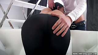 FirstAnalQuest.com - Donk Pornography WITH A Gorgeous RUSSIAN Teenager IN Taut Stretch pants