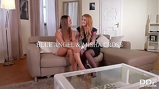 Teenager Misha Cross Pulverized in the Butt To the fullest Tonguing Blue Angel's Sweet Cunt