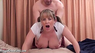School Girl Maggie Green gets Fucked With Say no to Pigtails Pulled!