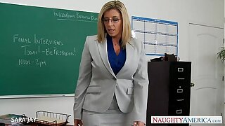 MILF Bus Sara Jay mad about student