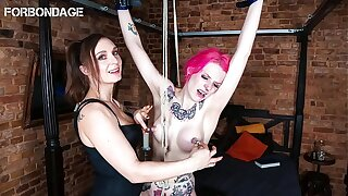 FORBONDAGE - Fetish Femdom With Kinky School Teacher And A Naughty School Girl (Lady Velvetsteel & Lyla Las Vegas)
