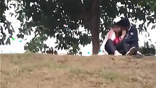 Indian beau kissing in park part 4