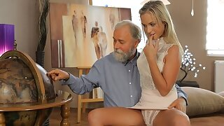 OLD4K. Shanie has a crush on her grey-bearded geography lecturer