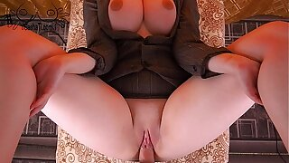 REAL!! Gigantic Tits Secretary Hard Fucking with Young Boss and Cum on Puss