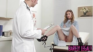Young Jillian Janson pounded with crazy doctors cock