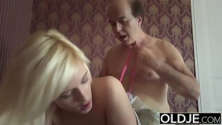 Pprincess intercourse doll fucks old man, blowjob and cock