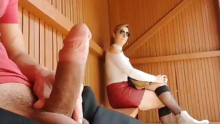 I pull out my cock at the bus stop, awesome reaction!!