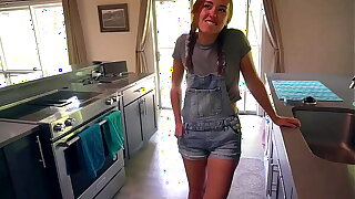 Sexy Young Maid Convinced To Try Pornography For 1st Time: BrandiBraids