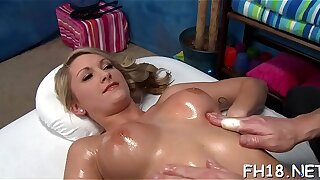 Marvelous Legal yr elder damsel gets pounded stiff from behind by their way rubdown analyst